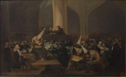 """Francisco de Goya.- """"Auto de fe de la Inquisición"""" (1812-1819)"""