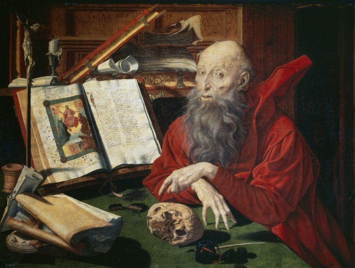 "Marinus van Reymerswaele.- ""San Jerónimo"" (1540)"
