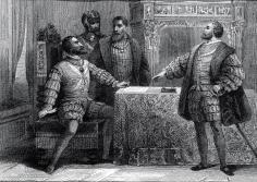 Carlos V y Francisco I en el Tratado de Madrid