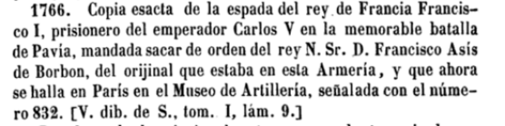 Catálogo de la Real Armería, siendo caballerizo mayor: D. Joaquín Fernández (1854)