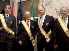 cuatro intelectualez mexicanos galardonados hoy con la Gran Cruz de la Orden de Isabel la Católica