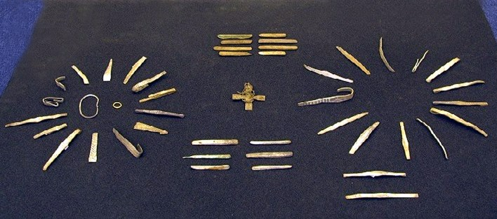 Inventario, alguno de los objetos encontrados. Historic Scotland.