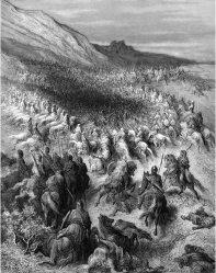 Batalla de los Cuernos de Hattin por Doré