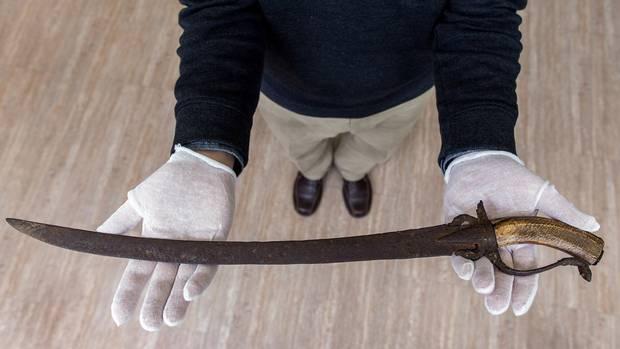 Arma hallada por Copp, que podría contarnos si los españoles se adentraron en América del Norte antes que los británicos.