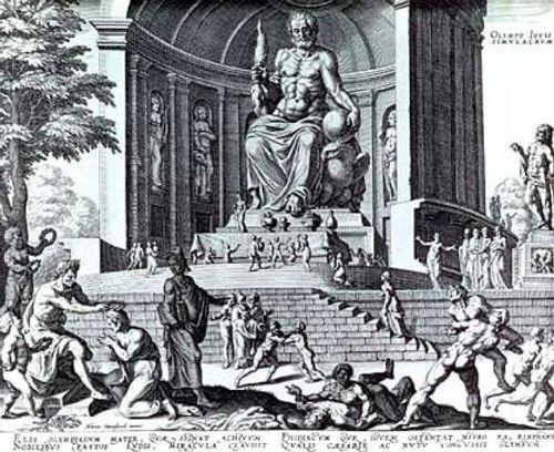 Estatua de Zeus, según van Heemskerck