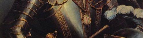 Detalle del medallón de la Orden de Santiago en el retrato de Alvaro de Bazán