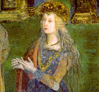 supuesto retrato de Lucrecia Borgia de Pinturicchio