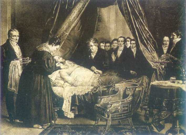 Fernando VII en el lecho de muerte.
