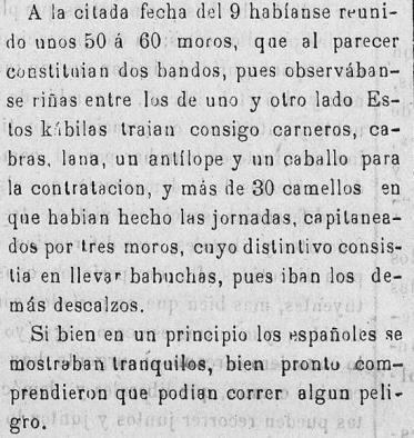 Extracto de la noticia en la Prensa de la época ( 15 abril 1885)