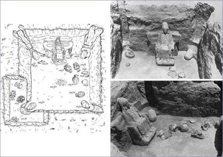 Hallazgo de la Dama de Baza en la tumba 155
