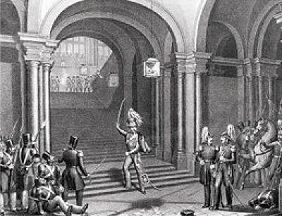 Asalto del teniente general Diego de León al Palacio Real de Madrid en 1841.
