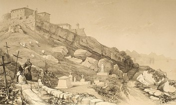 Cementerio Británico del Monte Urgull (en 1838) por Henry Wilkinson