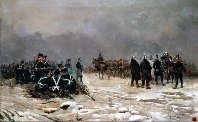 Batalla de Arlaban, 16 y 17 de Enero de 1836. Josep Cusachs y Cusachs.