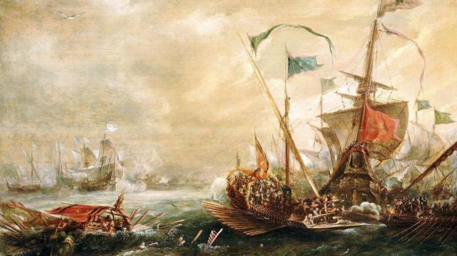 oleo-de-van-eertvelt-en-el-que-se-muestra-un-abordaje-de-los-piratas