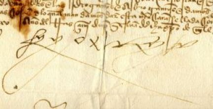 Firma de Fernando II de Aragón.