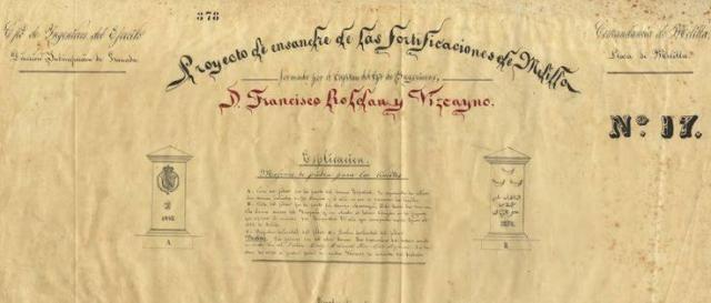 Plan de Ensanche y Mejora de las Fortificaciones del Cap. de Ingenieros Roldán y Vizcaíno