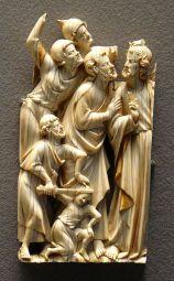 Marfil representando el Prendimiento (s XIV) Museo del Louvre