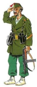 Teniente. Uniforme legionario.Campaña Sidi Ifni . [Historia y Guerra.net]