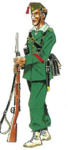Cabo. Uniforme legionario.Campaña Sidi Ifni . [Historia y Guerra.net]