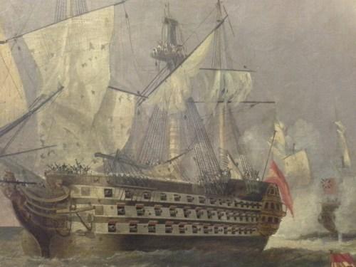 Batalla de cabo San Vicente 14 de febrero de 1797. Museo Naval