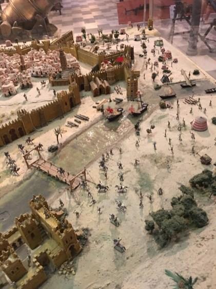Maqueta. Recreación de la conquista de Sevilla – Museo Militar. (foto: Miguel Ángel Ferreiro )