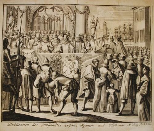 Publicación del Armisticio entre España y Holanda. h1609