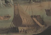 Astillero siglo XVI por Agostino Tassi (detalle)