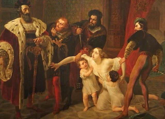 La muerte de Inés de Castro. Karl Briulov. Museo Ruso de San Petersburgo