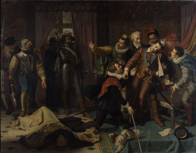 Enrique III asesinado por el fraile dominico Jacques Clement