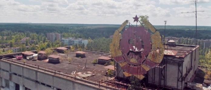 """Escena de la grabación de Danny Cooke: """"Postcards from Pripyat"""""""