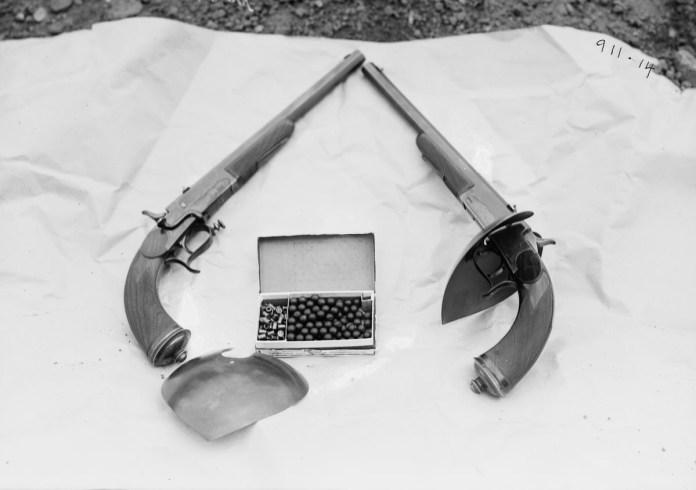 Armamento reglamentario y balas de cera, 1909