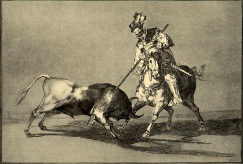 El Cid lanceando un Toro. Francisco de Goya