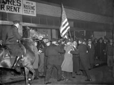 Manifestación antifascista a las puertas del congreso nazi en Nueva York (Foto: Archivo Getty)
