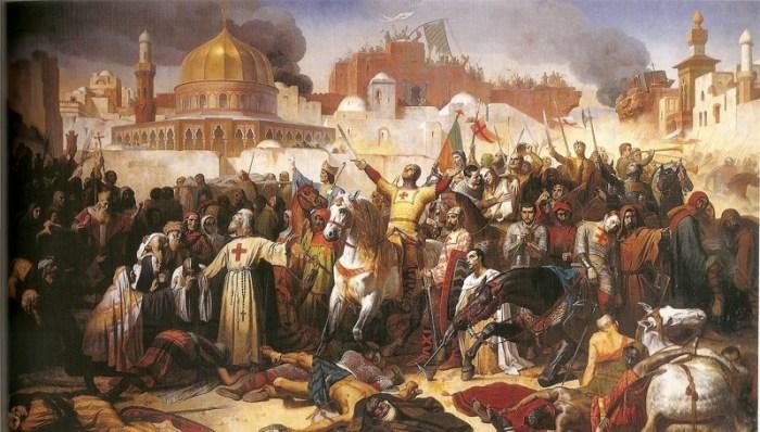 """""""Toma de Jerusalén por los Cruzados"""" Émile Signol"""