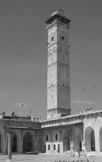 El minarete de la Gran Mezquita de Alepo, Siria (1090, Destruido en 2013).