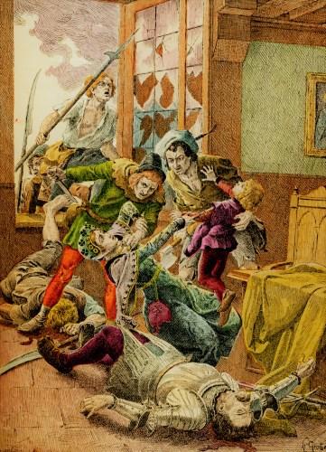 Ilustración de La Jaquerie, representativa de los leantamientos de campesinos contra sus señores
