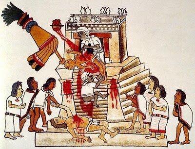 Sacrificios humanos mostrados en el Códice Magliabechiano.
