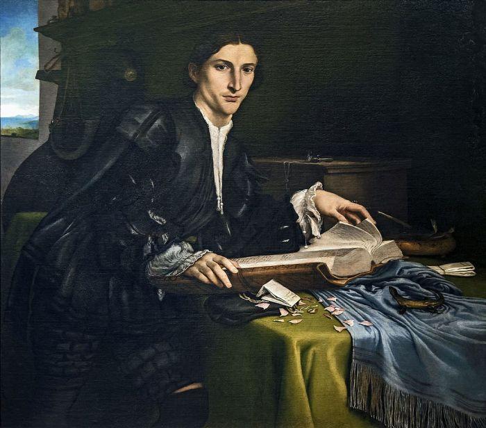 Retrato de Pier Francesco Orsini por Lorenzo Lotto