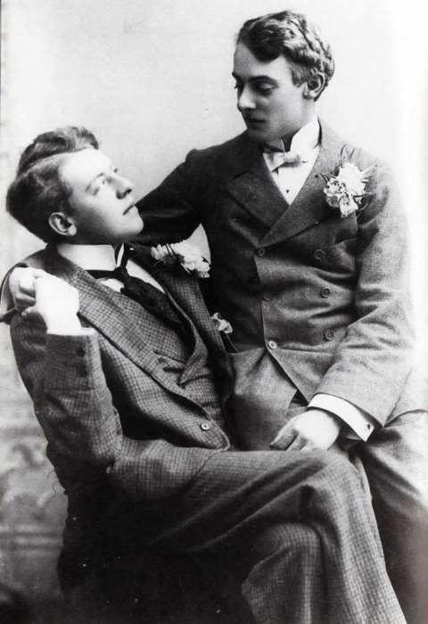 Oscar Wilde y Alfred Douglas.