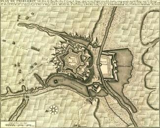 Charleroi en tiempos del ingeniero francés Vauban