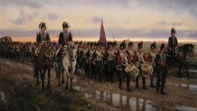 Regimiento Real de Minadores-Zapadores abandonando Alcalá de Henares el 24 de mayo de 1808, por Augusto Ferrer-Dalmau.