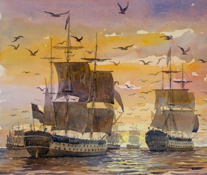 Retirada de la flota inglesa. Por Miguel Ángel Fernández y Fernández