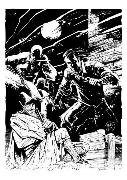 Encamisada de Sparendam, por Nacho TEnorio y Sergio Mora para el interior de El Asedio de Haarlem