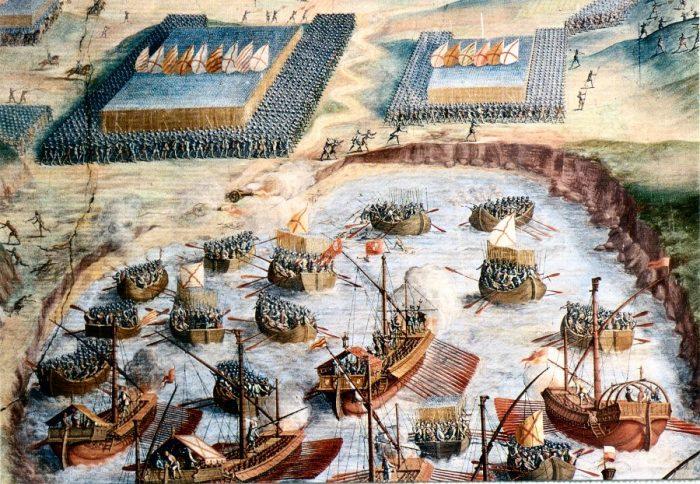 desembarco rodrigo Cervantes Tercios