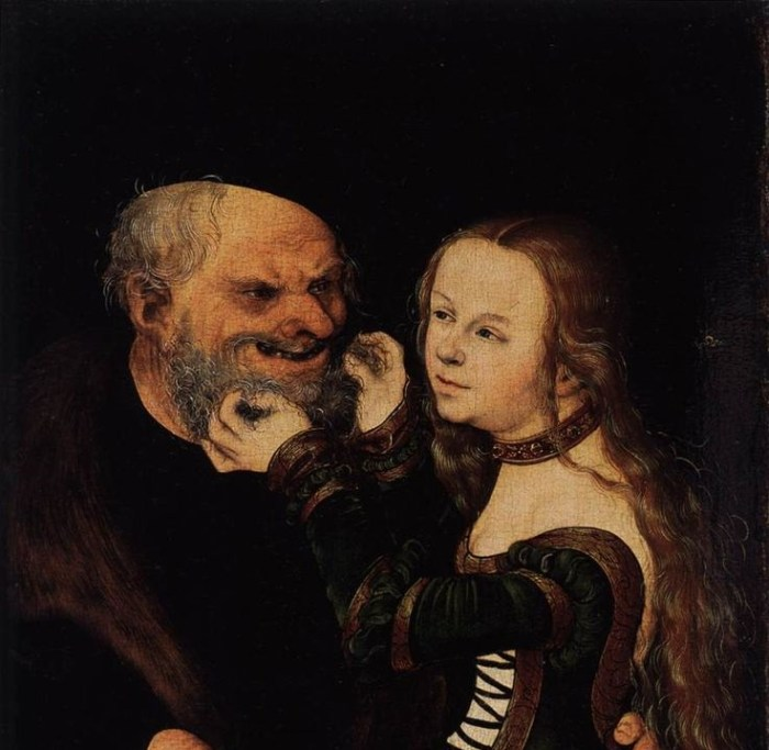 Young Girl and Old Man.