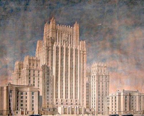 rascacielos urss stalin arquitectura rusia moscu