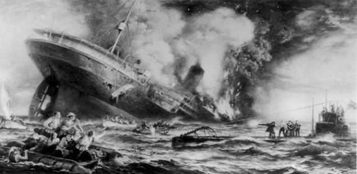 Naufragios de la Armada española de 1588 y de la WWI (software online de acceso gratuito) Hundimiento-lusitania