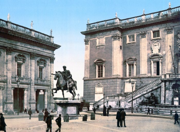 La Piazza del Campidoglio.