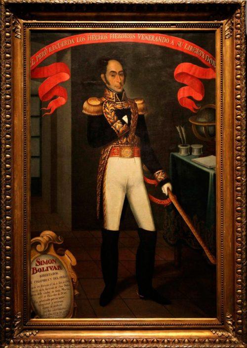Bolivar mano chaqueta napoleón