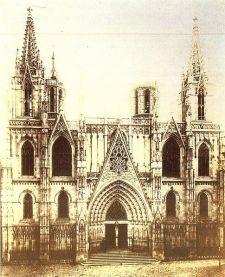 Fachada de la catedral de Barcelona el 1900
